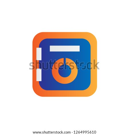 deposit box icon with simple modern style and flat gradient concept design vector eps 10  #1264995610