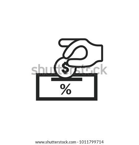 Deposit Vector Icon