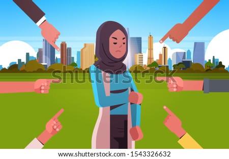 depressed arab woman being