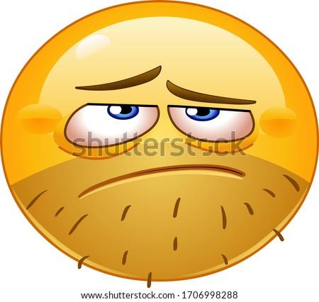 Depressed, hangover or tired emoji emoticon