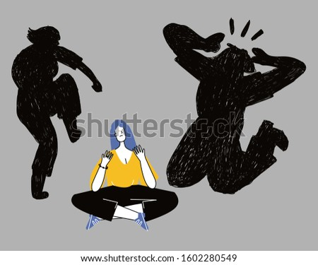 Depressed unhappy girl. Sad crying lonely young woman sitting on floor.  Female character in sorrow, depression, sadness. Mental disorder or illness. Colorful vector illustration in flat cartoon style