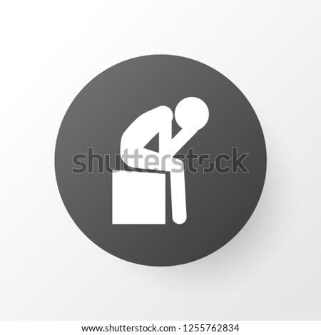 Depression icon symbol. Premium quality isolated sadness element in trendy style.