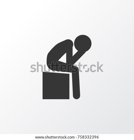depression icon symbol premium