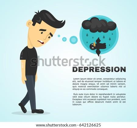 depression infographic concept