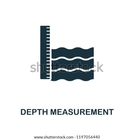 Depth Measurement icon. Monochrome style design from measurement collection. UX and UI. Pixel perfect depth measurement icon. For web design, apps, software, printing usage.