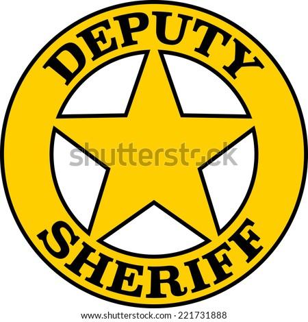 Deputy Sheriff, Badge, Star