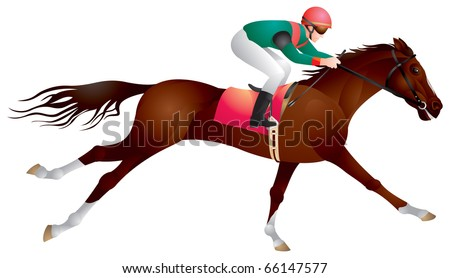 Derby, Equestrian sport horse and rider in vector, racing,  Jockey, competition, horseman, Hippodrome, Thoroughbred horse,  gambling, The Sport of Kings