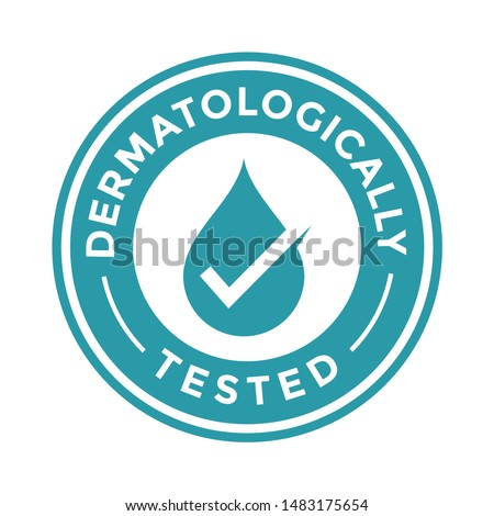 Dermatologically vector badge template. Suitable for product label.