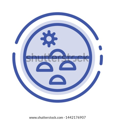 Dermatology, Dry Skin, Skin, Skin Care, Skin Blue Dotted Line Line Icon