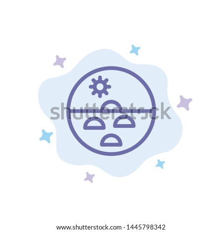 Dermatology, Dry Skin, Skin, Skin Care, Skin Blue Icon on Abstract Cloud Background