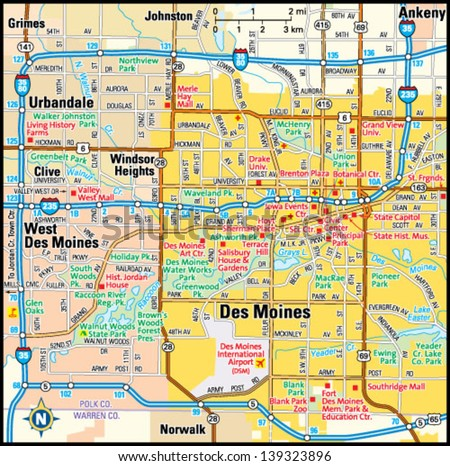 des moines suburbs map bnhspinecom