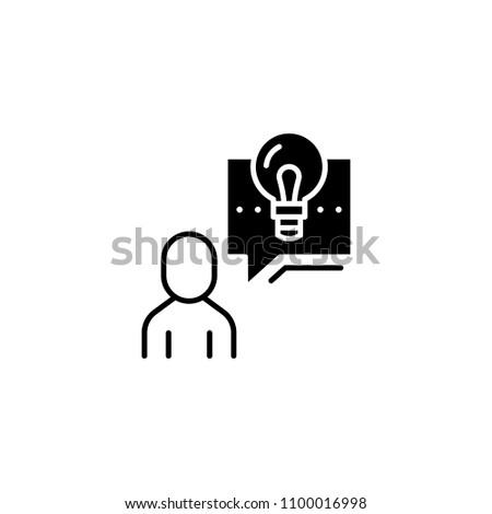 Describing a project black icon concept. Describing a project flat  vector symbol, sign, illustration.