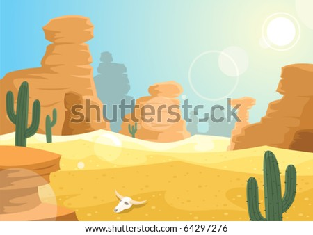 Desert: A desert landscape. No transparency used.