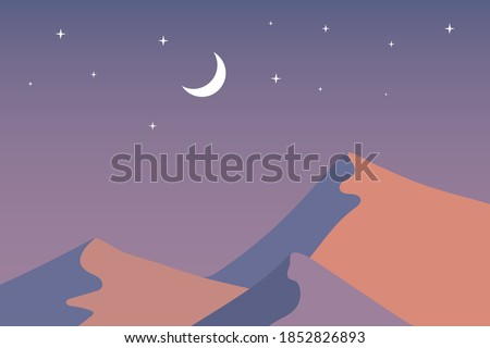 desert at night flat