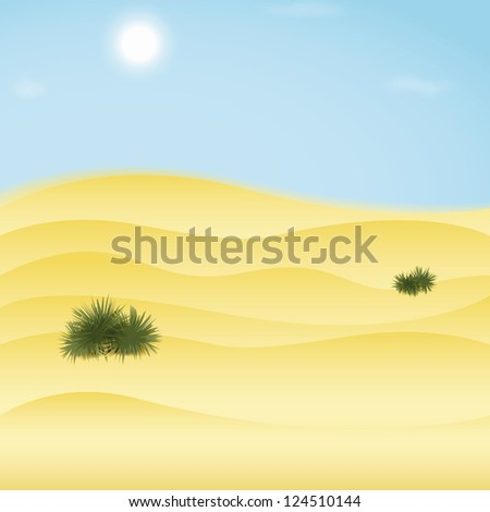 Desert background. Vector illustration