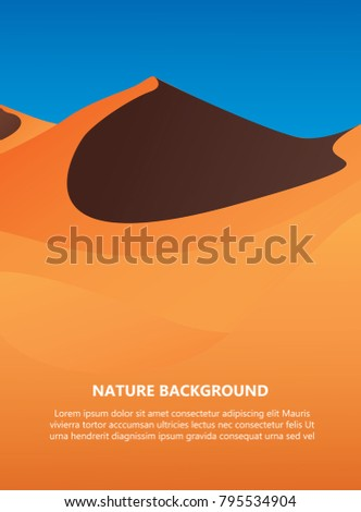 desert background with text