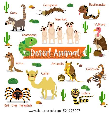 desert creature cartoon on