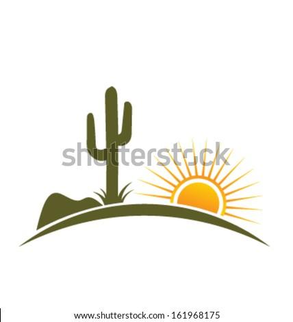 desert design elements with sun