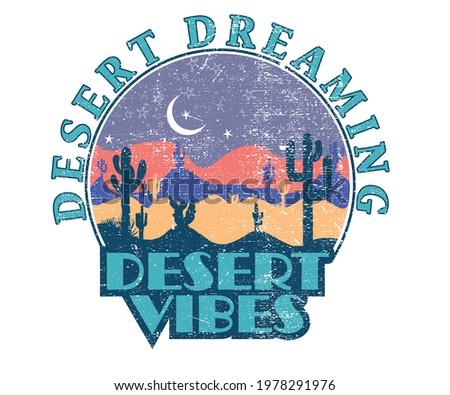 desert dreaming night graphic t