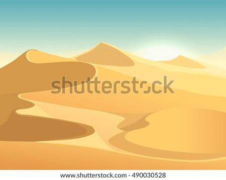 desert dunes vector egyptian
