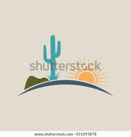 desert illustration logo...