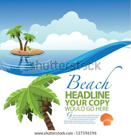 desert island ad poster