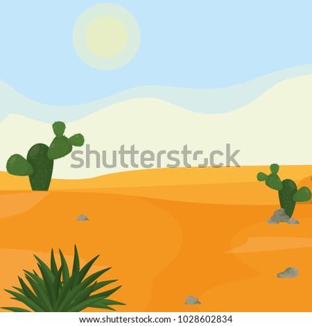 desert landscape cartoon