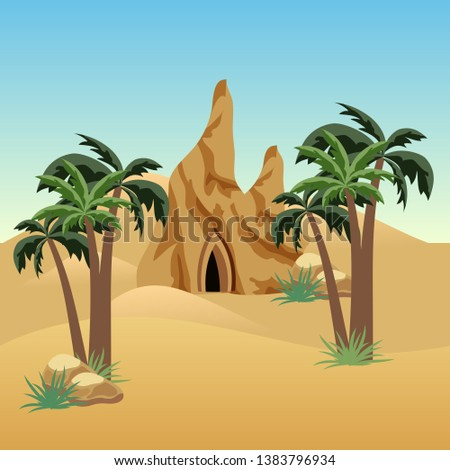 desert landscape scene for