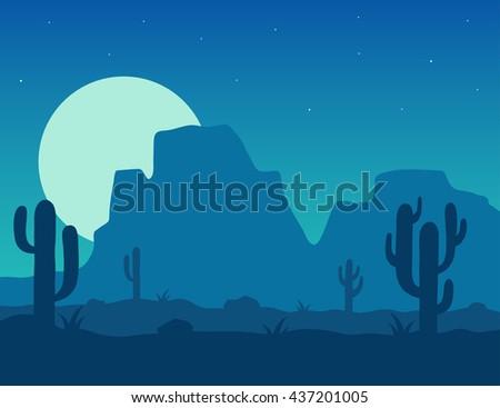desert landscape under the