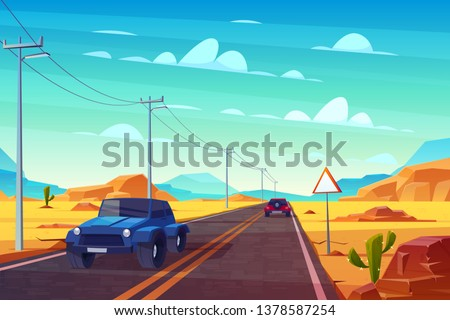 desert landscape with long