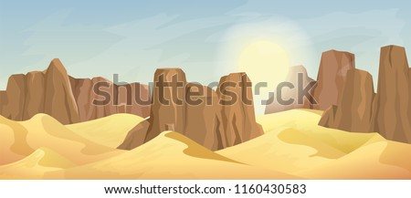 desert landscape with rocks and