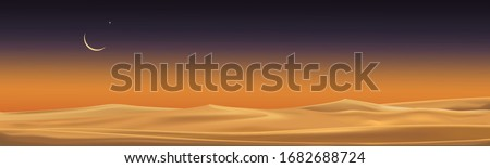 desert landscape with sand