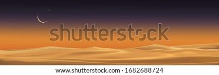 desert landscape with sand