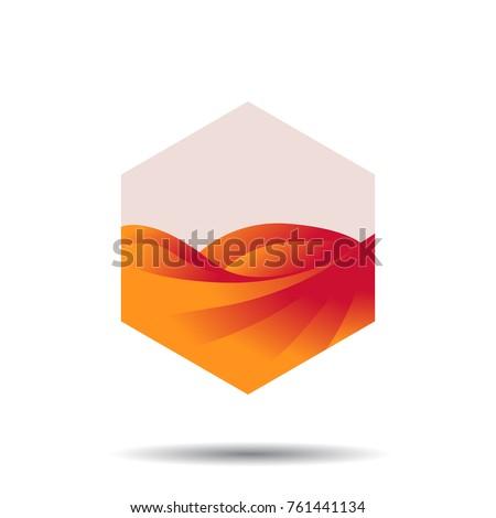 desert logo template desert
