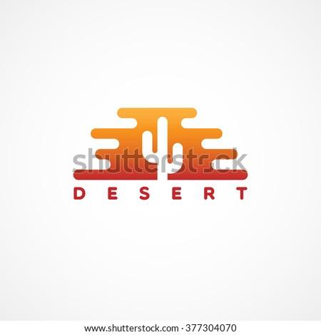 desert logo template design