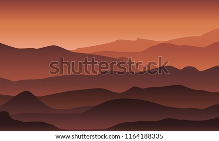 desert mountain landscape in