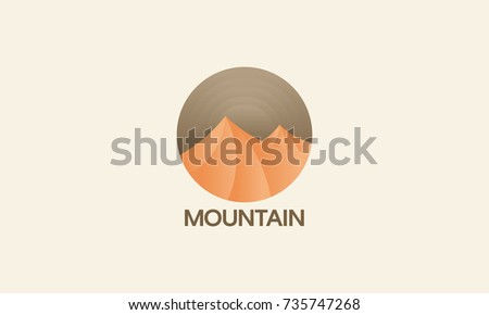 desert mountain logo badge ...