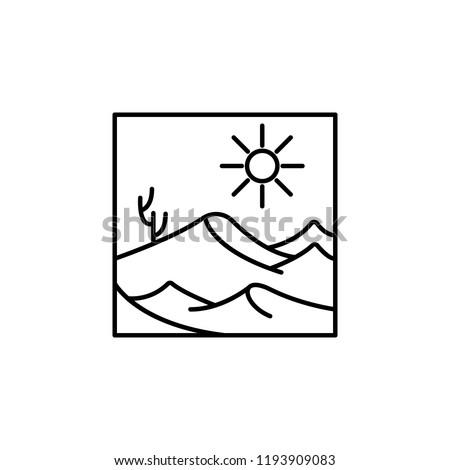 desert outline icon element of