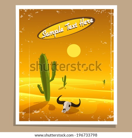 desert retro poster