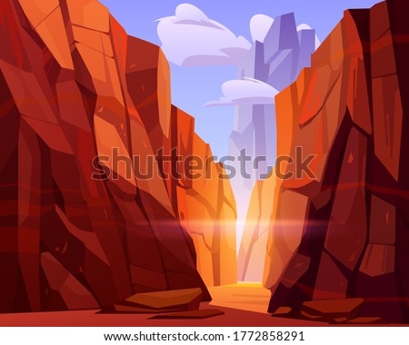 desert road in canyon with red