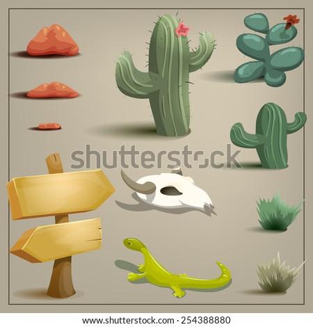 desert set vector