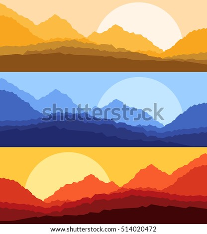 desert sunset and sunrise