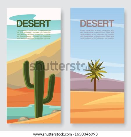 desert travel vector
