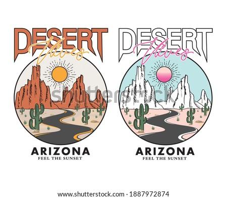 Desert vibes Arizona  t-shirt design Stockfoto ©