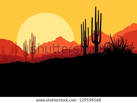 desert wild nature landscape