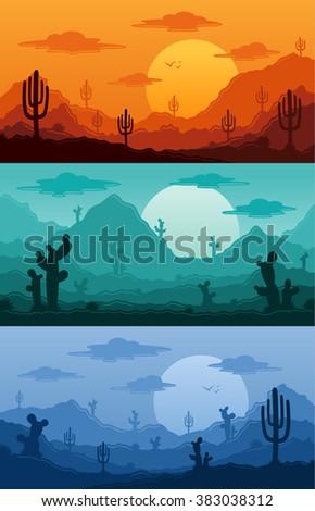 desert wild nature landscapes