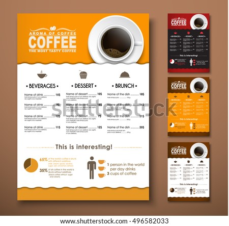 Design A Menu For The Cafe, A Restaurant, Coffee Shop. Templates With Hand  Cafe Menu Templates Free Download