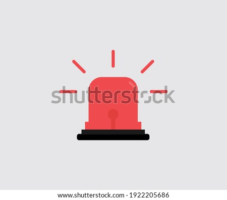 design about Flashing red siren icon illustration Stockfoto ©