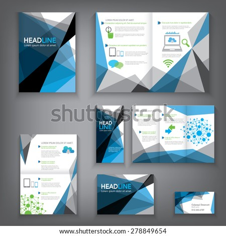 Design Abstract Vector Brochure Template. Flyer Layout, Flat Style, Infographic Elements in A3,A4,A5 size. #278849654