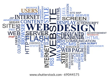 Design and web tags cloud for design. Jpeg version also available in gallery